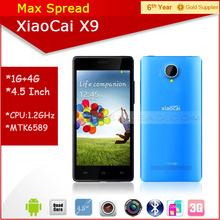 Hot sales!! 5.0 inch QHD mtk6582 quad core dual sim dual camear 8MP xiaocai x9 x9+ android smartphon