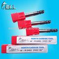 Bfl-hrc65 alta velocidade raio de canto cutter/moagem de carboneto de bico redondo hrc65 cortador de bits