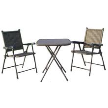Rattan kitchen bistro table chairs set HL-3S-12017