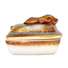 Animal Rabbit Ceramic Terrine