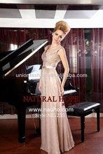 Crazy Hot&Elegant new listed beautiful V-neck evening dress NE1233 evening long dresses lace