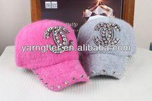 fashion beautiful lady cony hair cone logo baseball cap