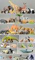 Kunststoff pvc Wildtiere spielzeug; kunststoff wildes tier spielzeug; oem Büffel tier