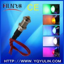 8mm diameter 12v metal LED indicator lights car dash symbols