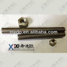17-4PH 752LN 724L de hardware de acero inoxidable de alta resistencia abrazaderas con varilla de rosca
