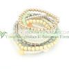 Latest design China jewelry wholesale fashion elastic bead bracelets for ladies!! Handmade jewelry korean elastic bead bracelets