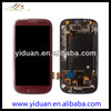 China manufacturer for samsung i9300 galaxy s3 lcd with digitizer red color