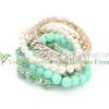 Latest design China jewelry wholesale resin flower bead bracelet for women!! Handmade jewelry resin flower bead bracelet elastic