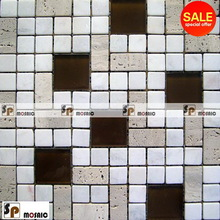 Promotional contemporary crystal and stone mixed mosaic
