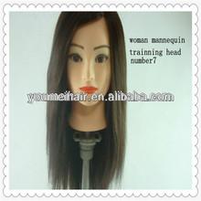 professional long hair styling make up 100%human hair dummy head