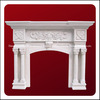 Carved Classic Decorative Indoor Used Marble Fireplace
