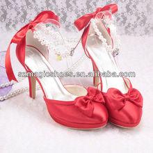 (12 Colors) Ladies Red Dress Shoes Rubber Sole