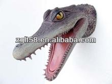 2014 lifelike artificial Animal Model-Alligator Head Resin