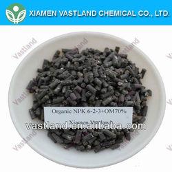 Vastland organic fertilizer for rubber npk 6-2-3