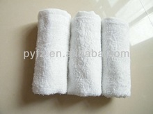 100% cotton white face towels for hotel