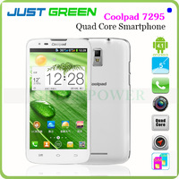 New Arrival!5 Inch IPS Capacitive Touch Screen Coolpad 7295 Quad Core Cell Phone Android 4.1OS MTK6589 CPU Dual SIM Card