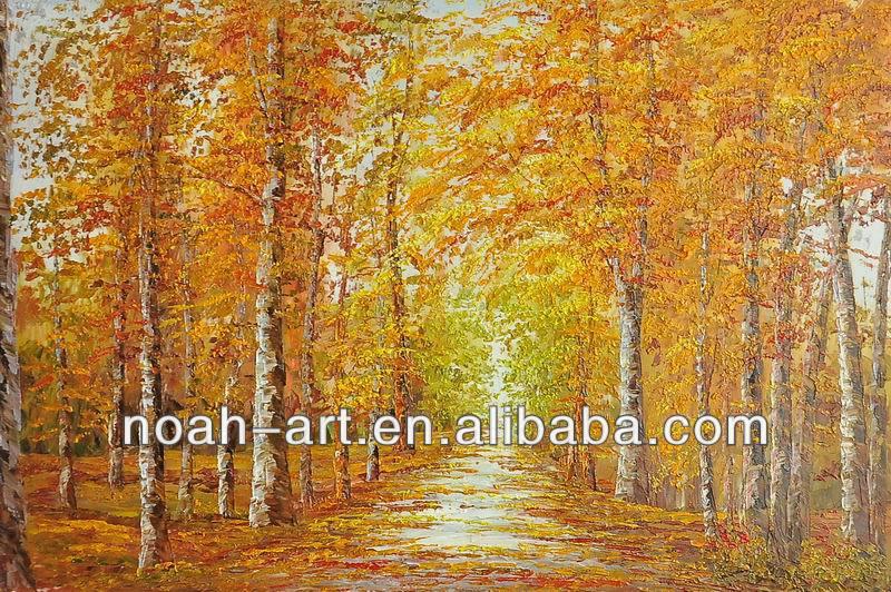 Paintings of Autumn Scenes Scenes Oil Paintings