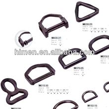 black plastic adjustable buckle D ring for bag/backpack accessories 55-2