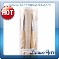 Bristle brush roll set with plastic tube paint brush price