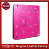 Minion Case For iPad 2 3 4,Hot Pink Diamond Bling Flip Case Cover For iPad 2 3 4