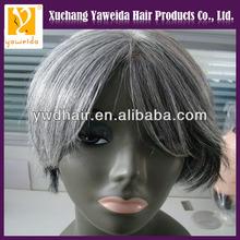 Beautiful virgin brazilian hair full lace wig,short hair grey hair wigs for women