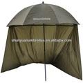 70 polegadas pesca guarda-chuva com inclinação superior zip e nos lados do mar/carpa brolly novo
