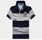 Two color striped golf shirts,fashion polo shirt design maker