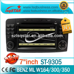 Best-selling LSQ Star Car Dvd Player For Mercedes Benz W164 With Gps/bluetooth/dvd/ipod/canbus On-sale!hot!