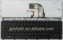 Hot Sell Brand New RU version,black notebook keyboard,laptop keyboard HP DV7-7000 with frame