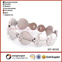 Stainless steel bracelet jewelry making sideways cross