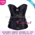 black steampunk espartilho de cetim plástico outwear mulheres