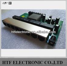 seamlessly OEM Lay2 8 Port 10/100/1000M 12V Power full duplex Gigabit fiber optic Switching power supply hub PCBA Module