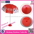 tondo rosso oem di plastica ombrellone di base