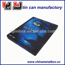 Tin dvd case/tin cd cases