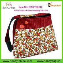 12OZ Canvas Cross Body Tote Bag Flower Pattern Printed Canvas Shoulder Bag Fashion Design Customize Canvas Cross Body Bag