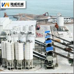 portable concrete batch plants for sale with luwei silo