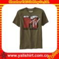 Personalizzato caldo vendere alto, qualità con uomini modello di slogan s t shirt