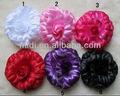 grande tecido rosa de cabelo acessórios de artesanato de flores artificiais