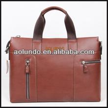 Wholesale genuine leather mens executive briefcase bag
