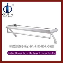 wall mounted coat rack shelf/equipment for the shop/metal shop fitting