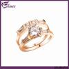 2 Rings Zircon Gold Wedding Ring Sets Designs