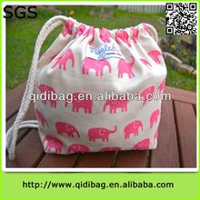Hot-sale new cotton drawstring shoe bag