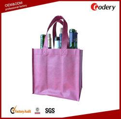 wholesale picnic 6 non woven wine bottle tote bag