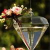 diamond like cut glass flower holders bohemia crystal czech republic wedding decoration