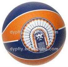 standard size rubber basketball balls 7# natural