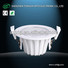 Waterproof IP65 cob led downlight 7w dimmable Pure/Natural White 5000k(CE& Rohs)