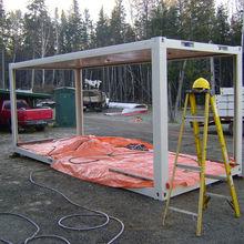 steel structure prefab home for seismic area, construction area, mining area