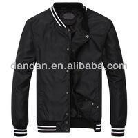 Men's black color jackets snap button outwear