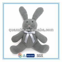 Long ear stuffed plush bunny black color