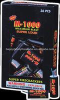 M1000 sliver cracker super firecrackers with super loud noise
